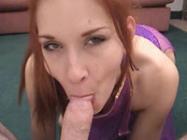 Lucky guy filming a slut that sucks his cock